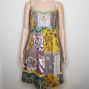 Cabi Beaded Boho Hippie Festival Lined Sundress